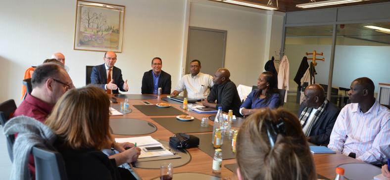 Bezoek van de senegalese delegatie op 17 mei 2016